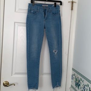 Levi's super skinny ripped jeans
